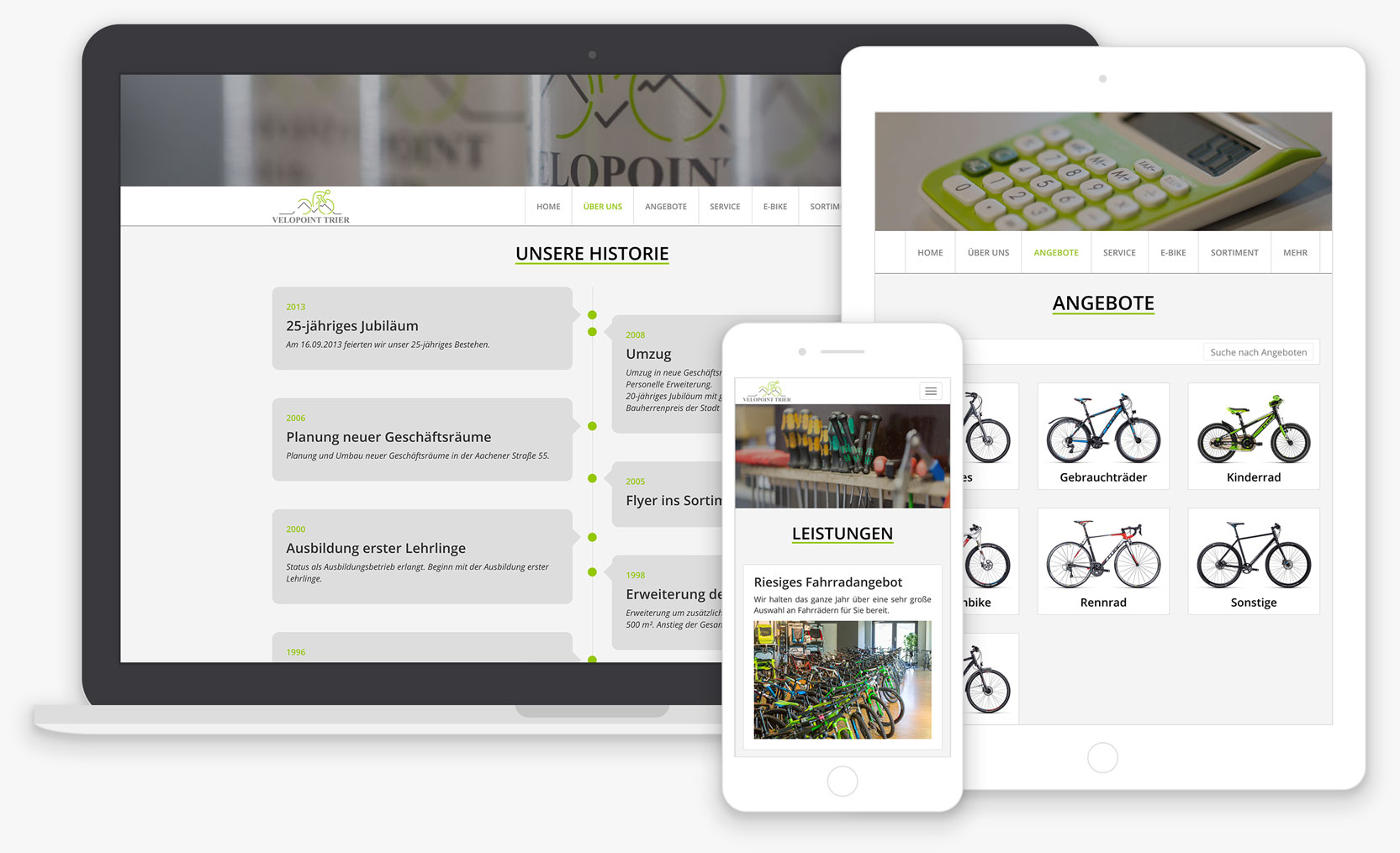 Velopoint Trier - Website Responsive